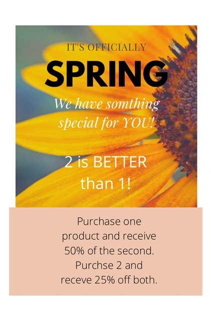 Sprout Salons Specials for February and March